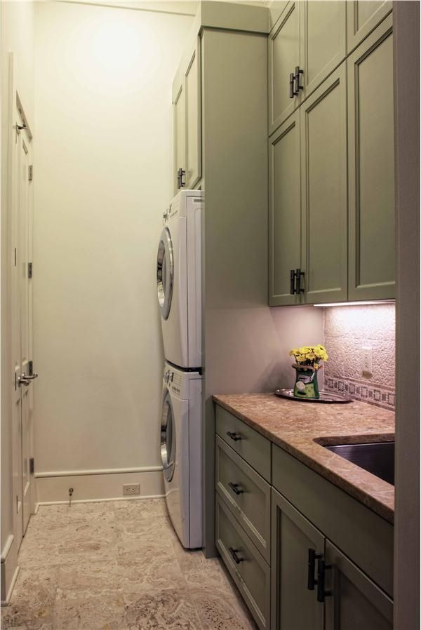 Stackable Washer Dryer Laundry Room Narrow