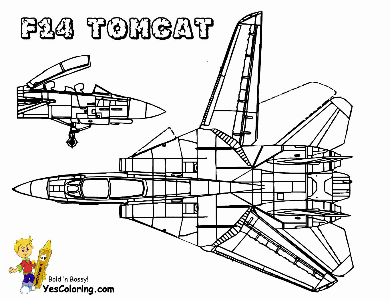 Fighter Jet Coloring Page New Mighty Military Airplane