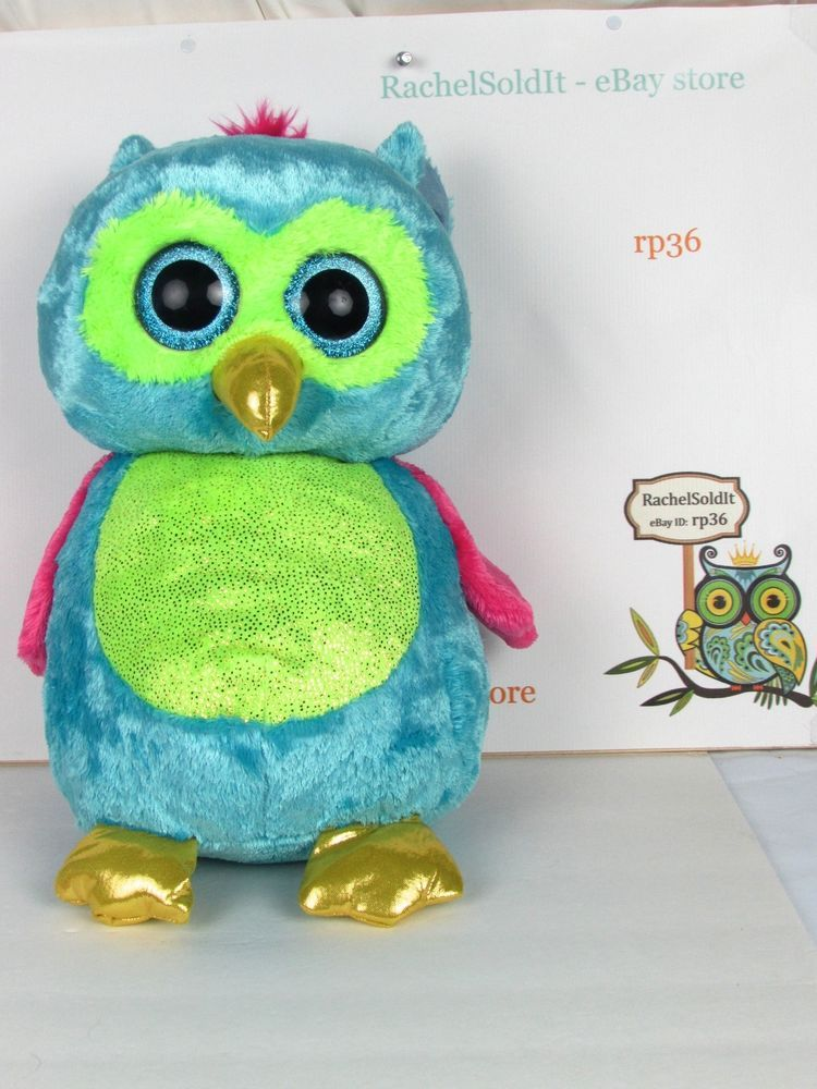 506924250e0 Ty Beanie Boo Large Opal The Owl 16