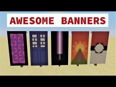 Top 5 Awesome Minecraft Banner Designs With Tutorial Youtube