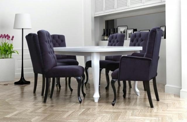 6x Chesterfield Stuhle Stuhl Set Polster Garnitur Kuchen