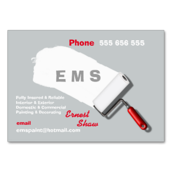 Just The Thing For A Painter Decorator This Stylish Business Card Template With Paint