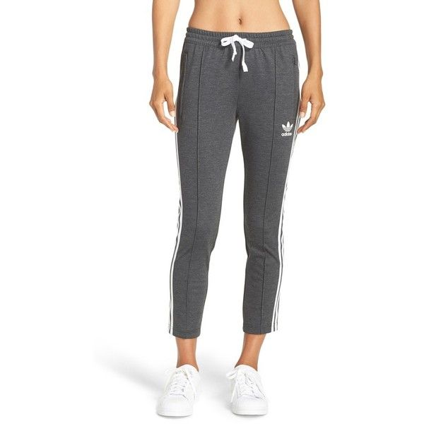 Women s Adidas Originals Crop 3-Stripe Sweatpants ( 65) ❤ liked on Polyvore  featuring activewear bf75acc5ab