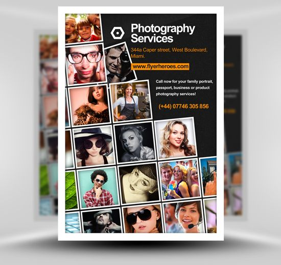 free-photography-flyer-template Posters Pinterest - business pamphlet templates free