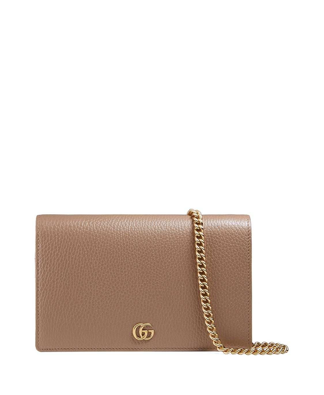 e08a4d457ed Gucci Petite Marmont Wallet on a Chain in Beige