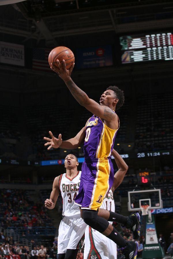 """f377c7710f14 Nick Young – Air Jordan 5 """"Lakers"""""""