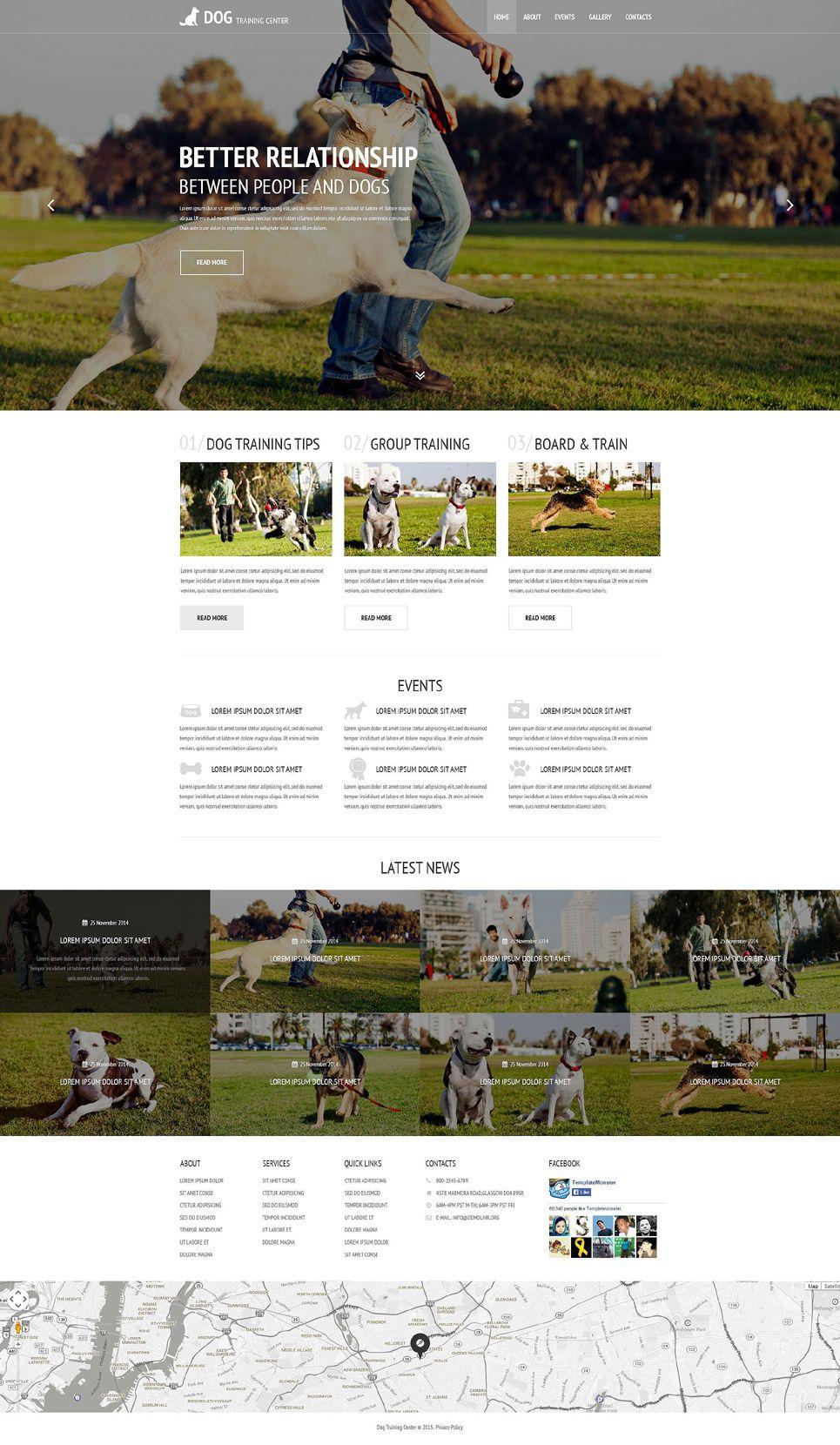 Dog Training Center Dog Templates Responsive Modern Html Website