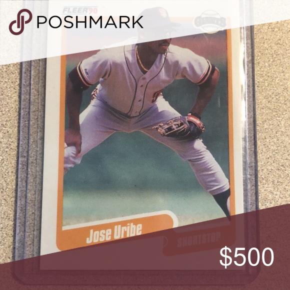 1990 Jose Uribe Super Rare Card Super Rare Card Hard To Find Has