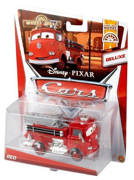 amazoncom disney cars deluxe mega wheel well motel red fire truck toys - Disney Cars Toys Truck