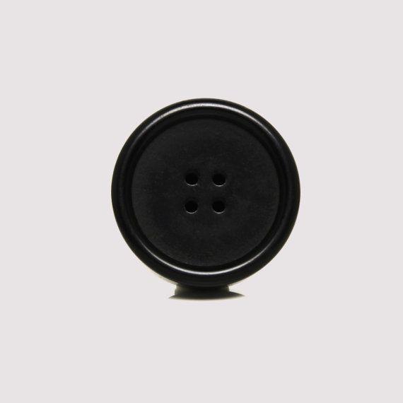 Black Acrylic Button Door Knob, Unique Large Dresser Drawer Pull Handle or Wardrobe Door Knob, Retro Round Decorative Furniture Accent
