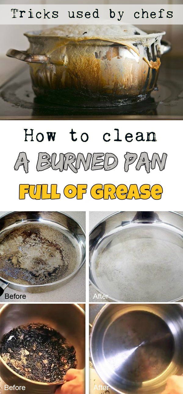 How To Clean A Burned Pan Full Of Grease Tricks Used By Chefs