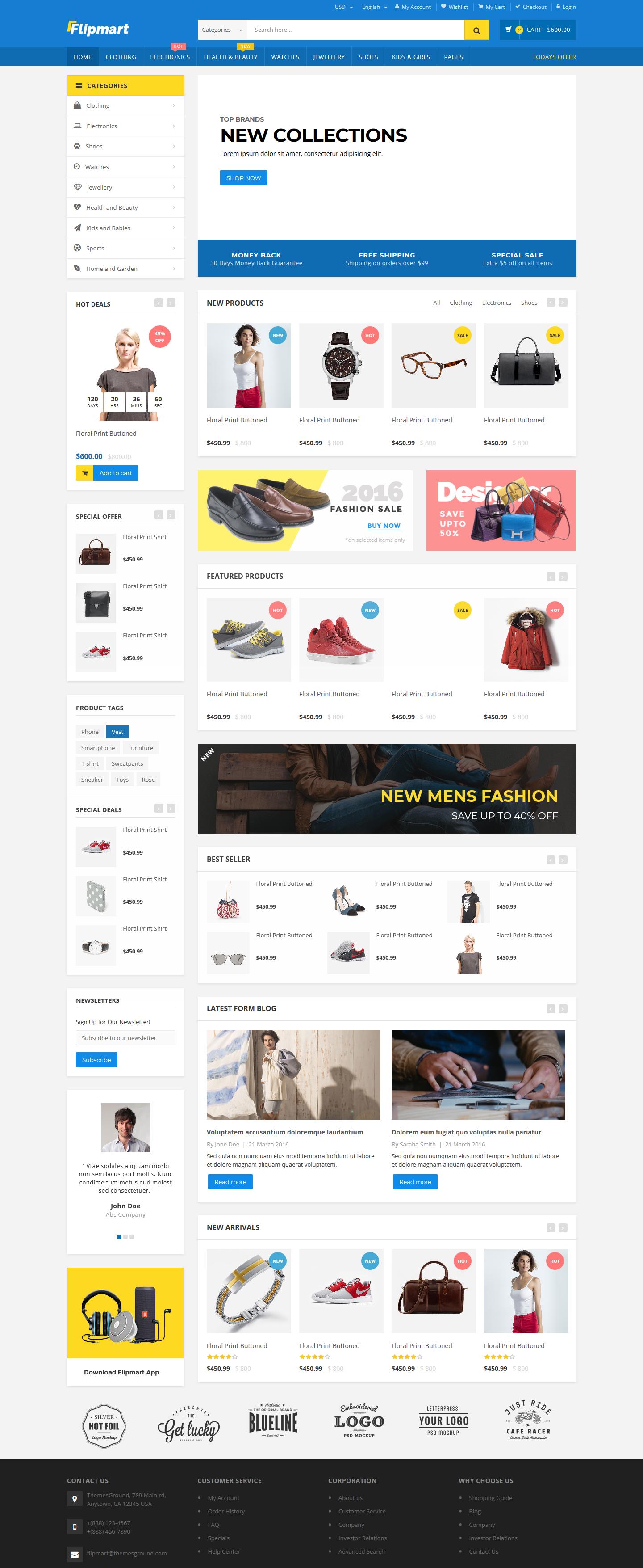 Flipmart Responsive Shop Template HTML Opera, Công