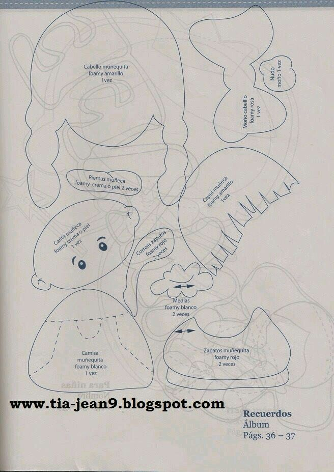 Niña con trenzas 2 | Foami plano | Pinterest | Gomitas, Eva y Moldes