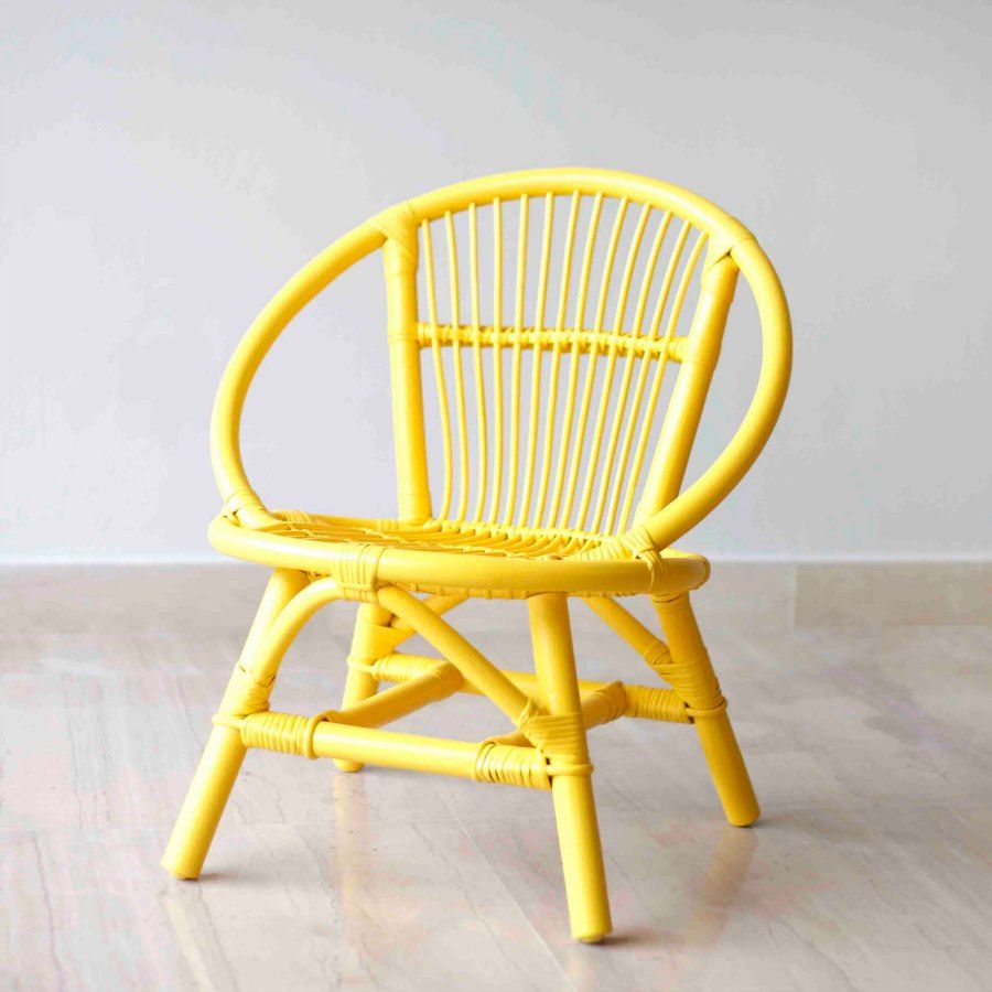 Peacock Collection Kids Round Chair Available In Yellow, Pink, Aqua,  Greywash And White