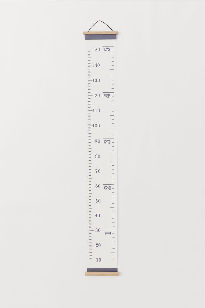 Wall Decoration - White - Home All | H&M US | Height chart ...