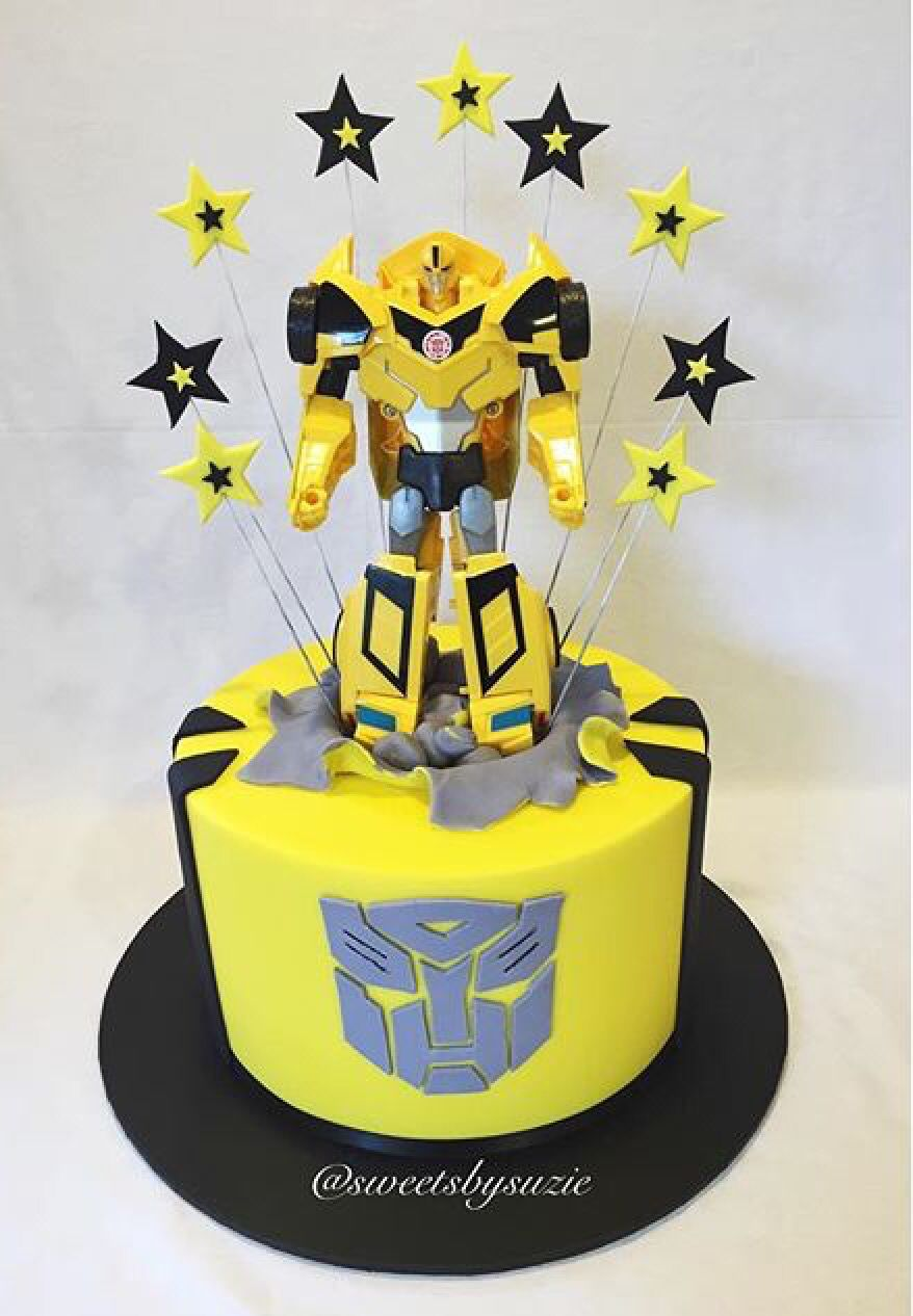 Fine Bumblebee Transformer Birthday Cake Made By Sweetsbysuzie Personalised Birthday Cards Paralily Jamesorg
