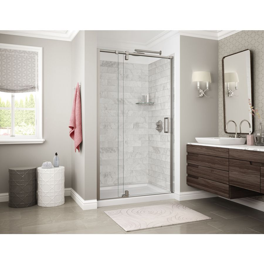 Maax Utile Marble Carrara Shower Wall Surround Back Wall Panel
