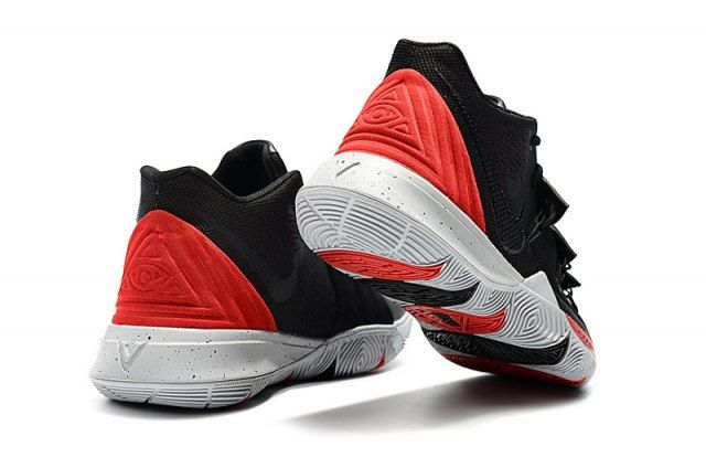 info for 3944d 213cb Nike Kyrie 5 Black University Red-Grey Men s Basketball Shoes Irving  Sneakers
