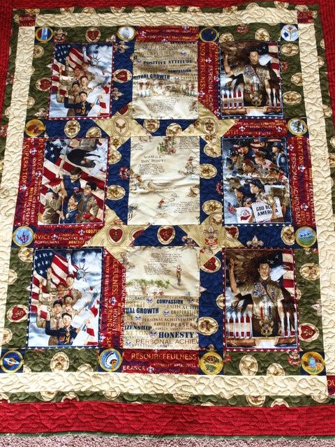 eagle scout quilt patterns | Boy scout quilt made for fundraiser ... : boy scout quilt - Adamdwight.com