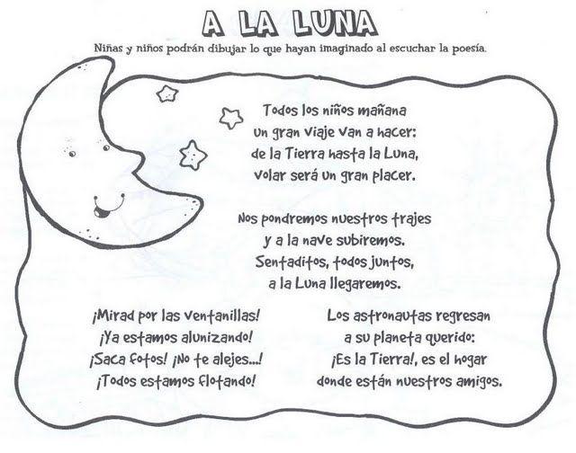 Visita La Entrada Para Saber Más Poesia A La Luna Acrosticos Astronomia Para Niños