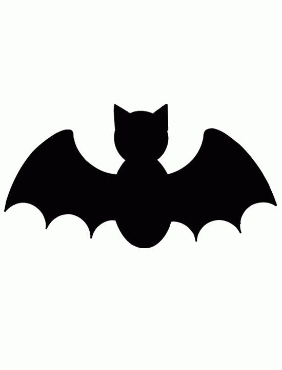 Pumpkin Cutout Templates | Bat - Free Printable Coloring Pages ...