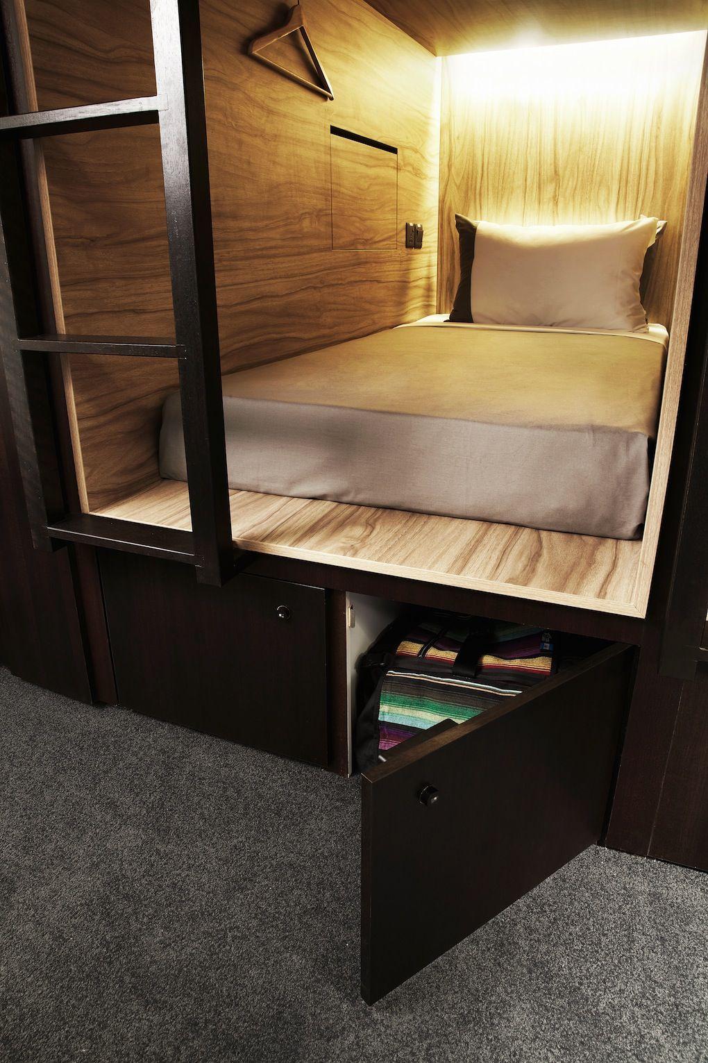 Small Hotel Room Design: The Pod Boutique Capsule Hotel