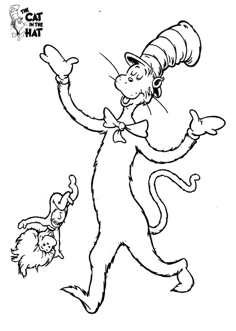 Dr Seuss The Cat in the Hat Coloring Pages 2 classroom