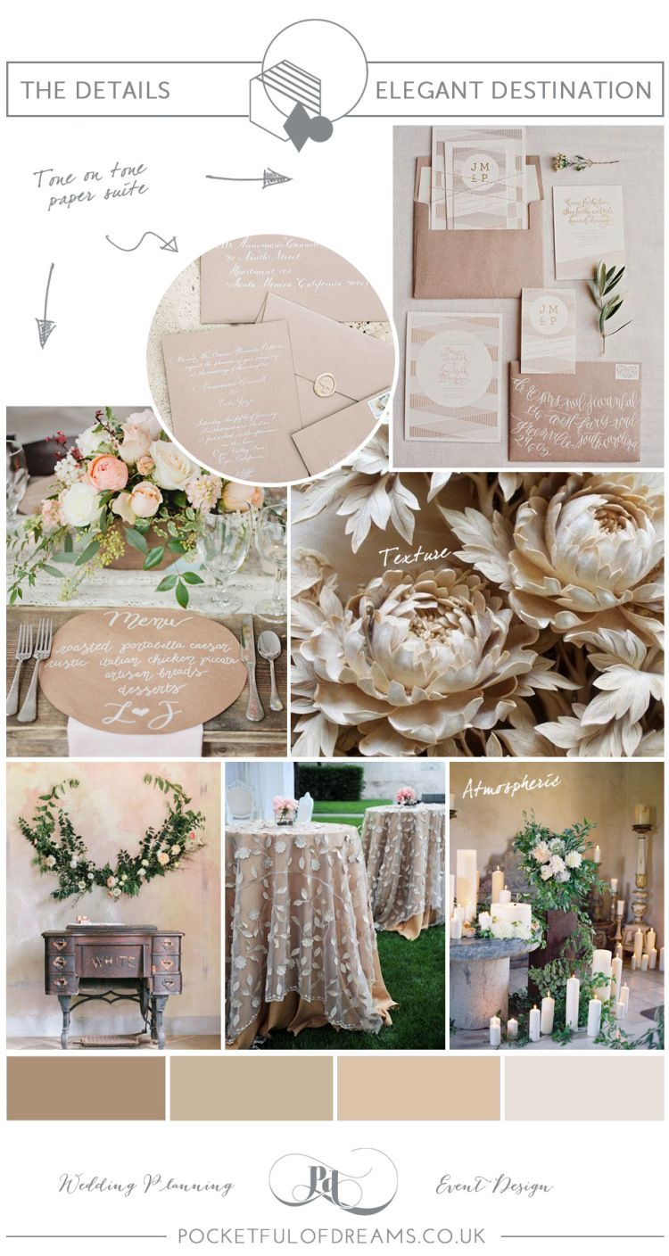 Bridal Inspiration Board #80 ~ Elegant Neutral Spring Shades | Love My Dress® UK Wedding Blog + Wedding Directory