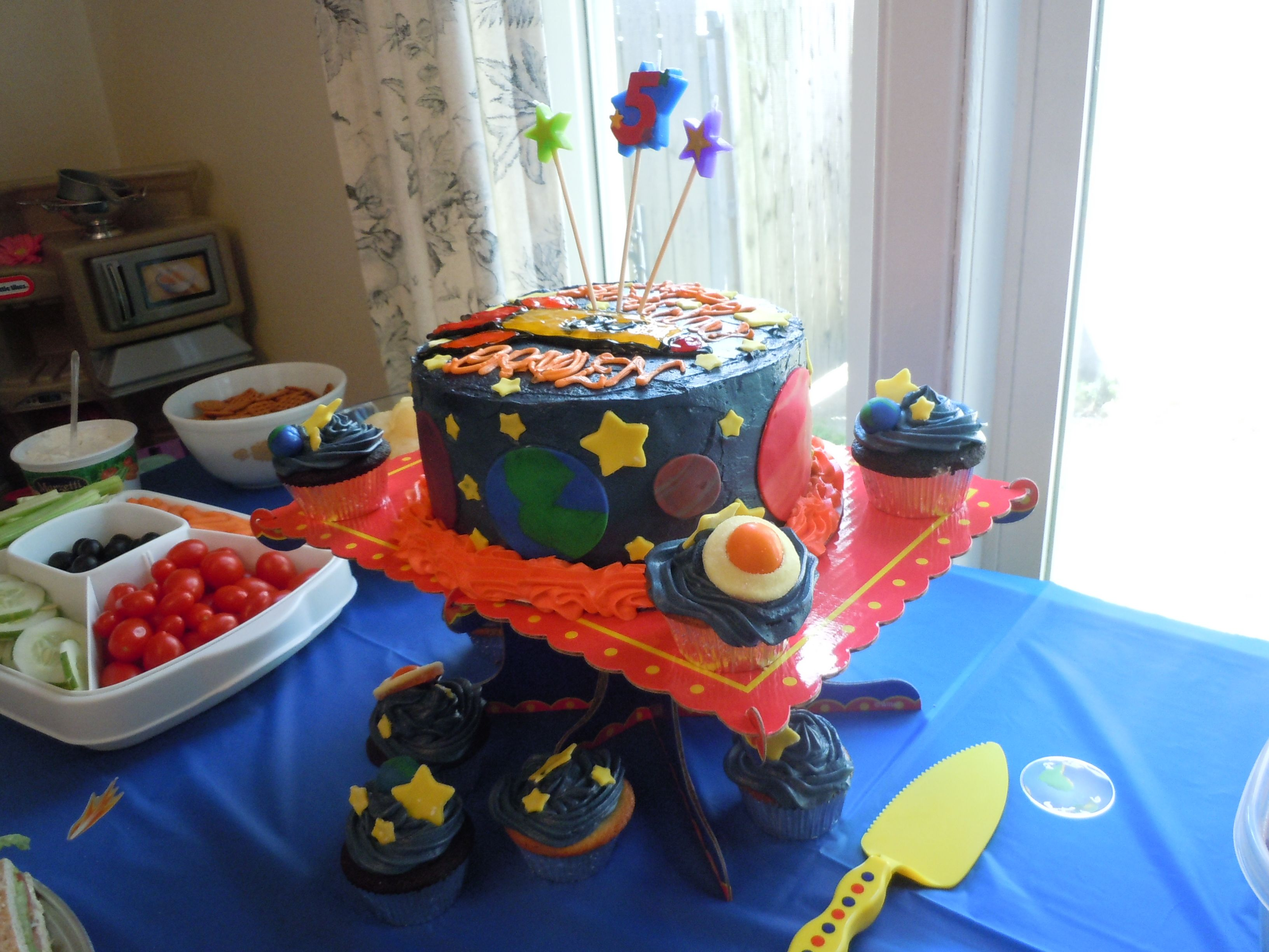 Outer Space Cake For My Son S 5th Birthday