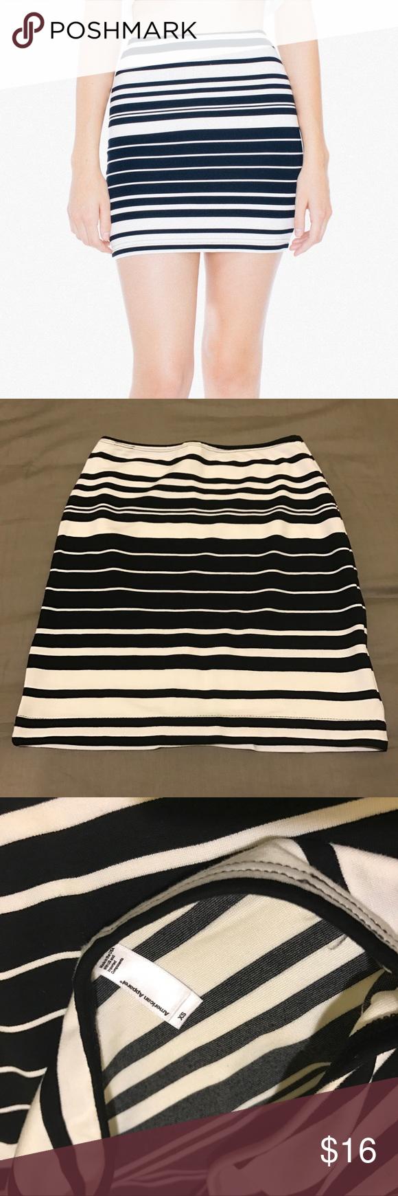 18affc48e American Apparel - Striped Ponte Mini Skirt Striped Ponte Mini Skirt //  Color: Salem