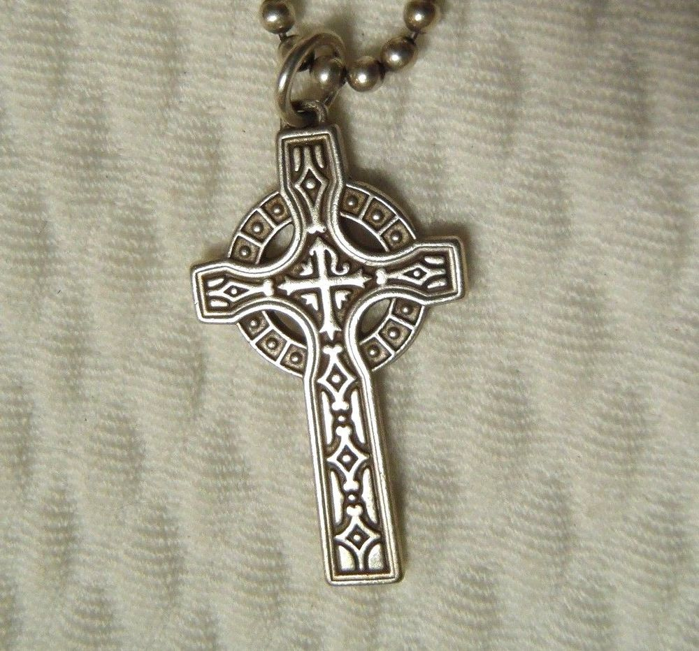 celtic solid w pendant cross rose chain gold necklace knot trinity