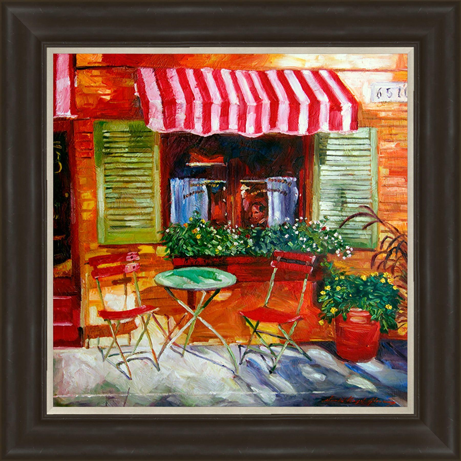 Cafe Scene Framed Painting Print