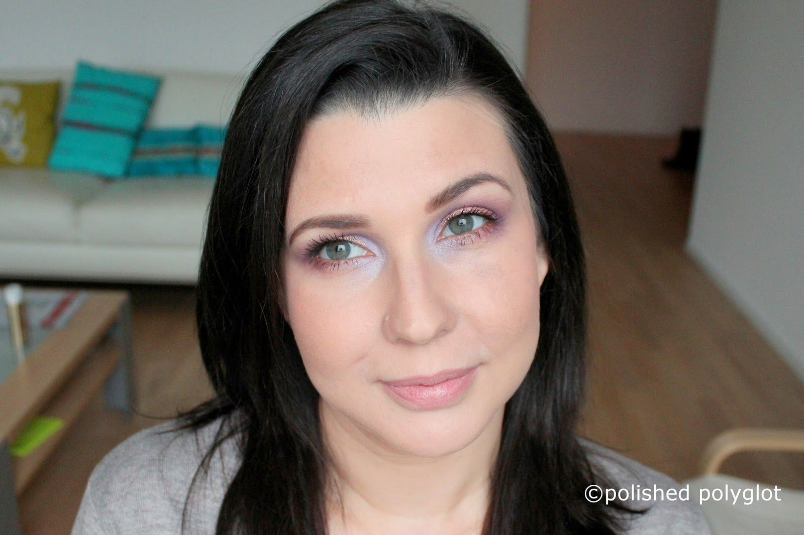 Makeup │ Soft look in lavender and salmon pink [Monday Shadow ...