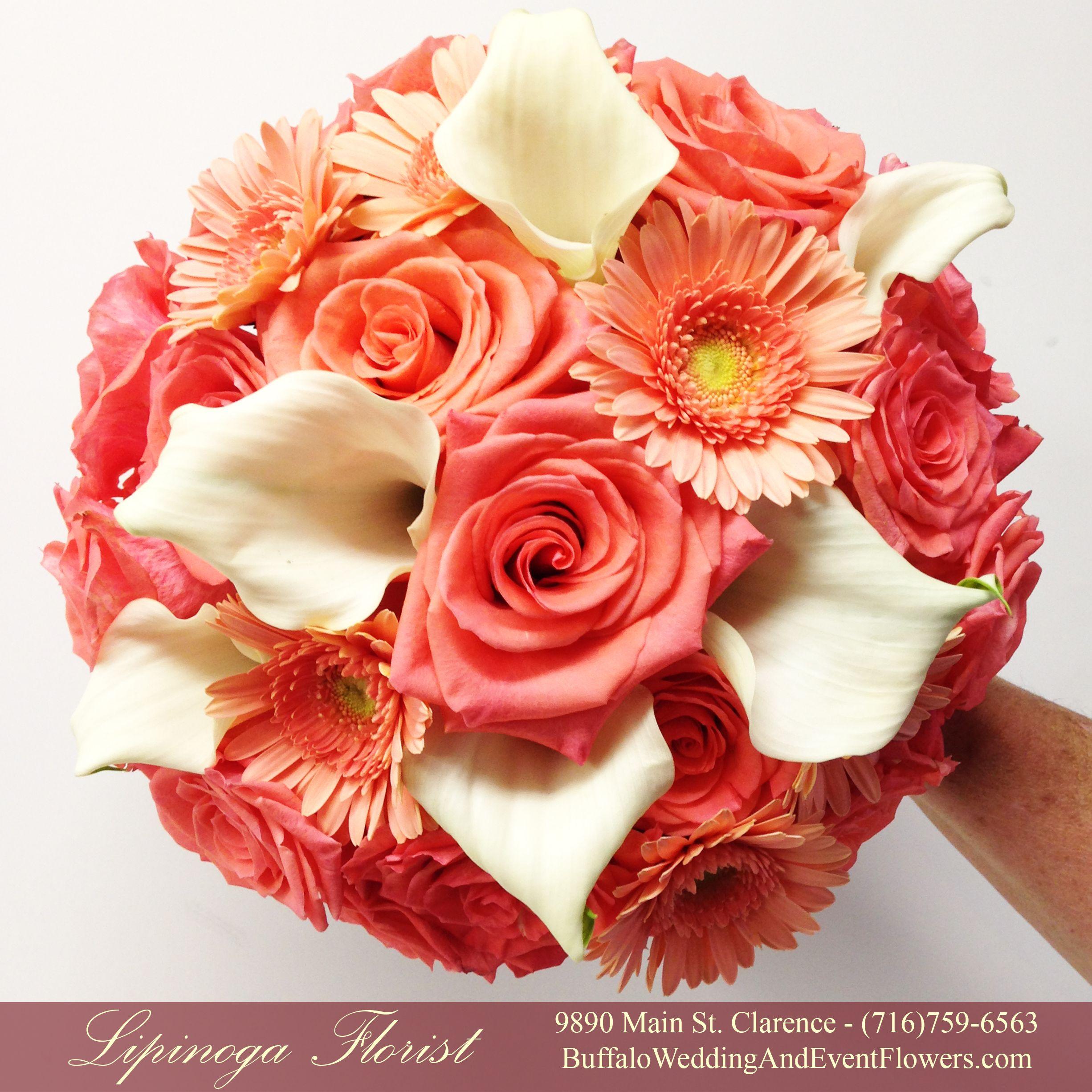 Mini Calla Lilies Gerbera Daisies Roses Flower Bouquet Wedding