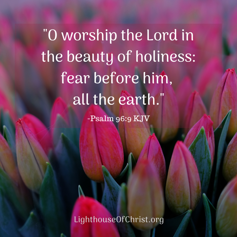 Psalm 96:9 | Scripture quotes, Christian quotes inspirational, Psalms