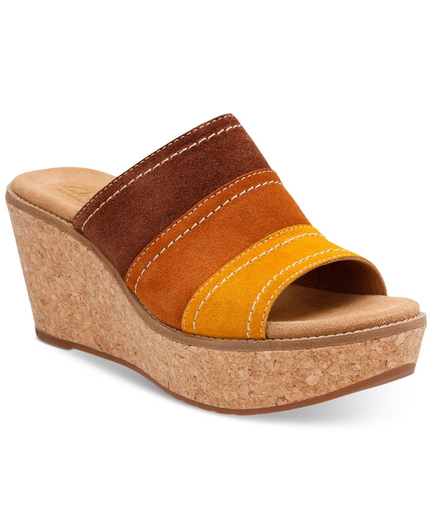 Clarks Artisan Women's Aisley Lily Wedge Sandals Wedges
