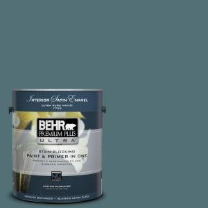 BEHR Premium Plus Ultra Home Decorators Collection 1-gal. #HDC-CL-22 Sophisticated Teal Satin Enamel Interior Paint 775301 at The Home Depot - Mobile