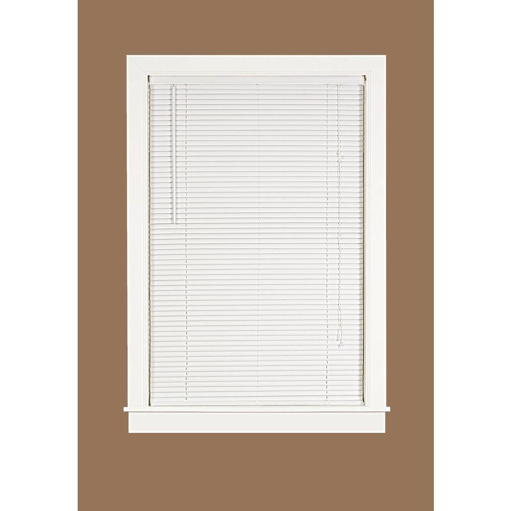 Deluxe Sundown White 1 in. Room Darkening Vinyl Mini Blind