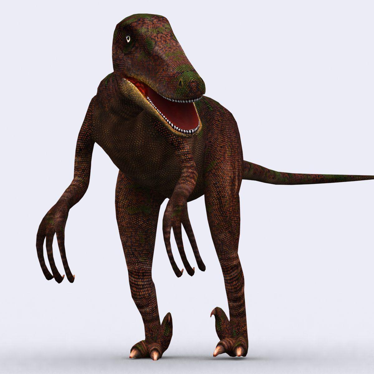 3DRT Dinosaurs Velociraptor Spinosaurus