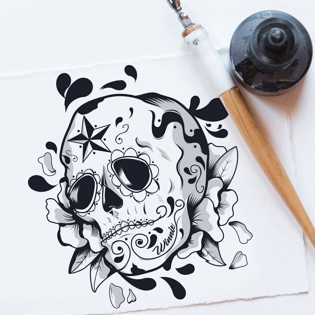 Made with love ☠. . . #skull #skulltattoo #mexicanskull #ink #inktattoo #artworkoftheday #doodle #doodleart #doodles #creativeart #inspiration #blackwork #blackworktattoo #encasa #stayathome #characterdesign #cartoon #procreate #drawing #lineart #linework #lineworktattoo #draw #sketch #originalcharacter #originalart #childrenbookillustration #setdesign #sethgodin #knowledge
