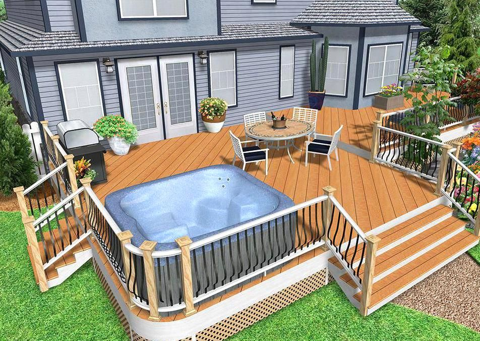 Multi Story Decks Curved Decking And Railing And Decks With Holes