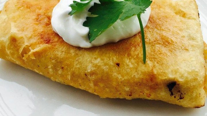 Chicken Chimichangas With Sour Cream Sauce Recipe Sour Cream Sauce Recipes Chimichanga Recipe