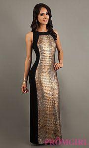 Buy Sleeveless Floor Length High Neck Dress at PromGirl