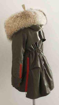 Raccoon Fur Collar Parka Jacket – Poppy London | wk-end wear ...