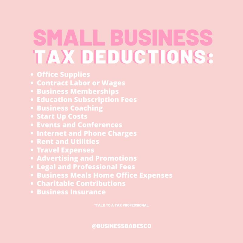 Tax Deduction List Tax Prep Checklist Tax Deduction List For
