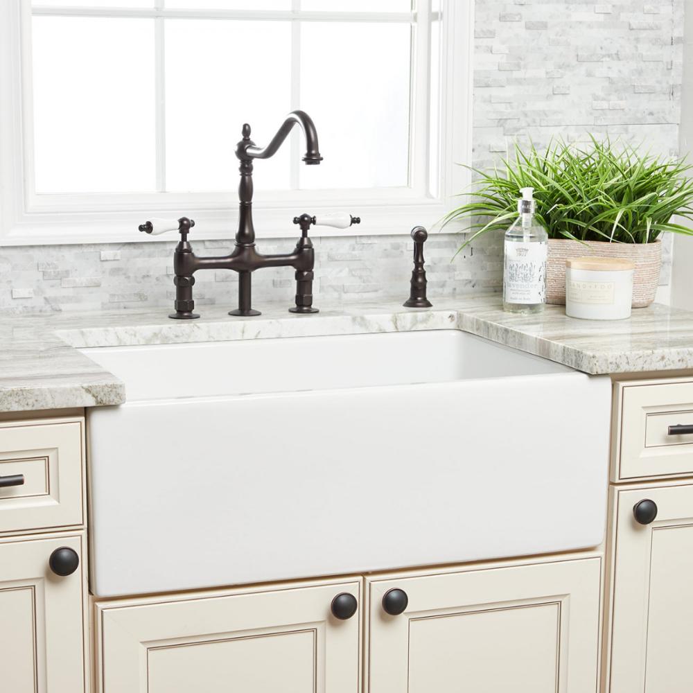30 Plain Front Fluted Apron Reversible Farmhouse Sink In 2020 Farmhouse Sink Kitchen Kitchen Sink Design Farmhouse Apron Sink