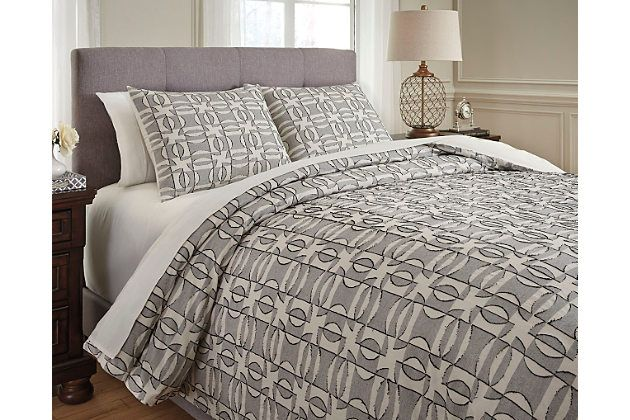 Nilay 3 Piece Queen Duvet Cover Set By Ashley Homestore Cotton