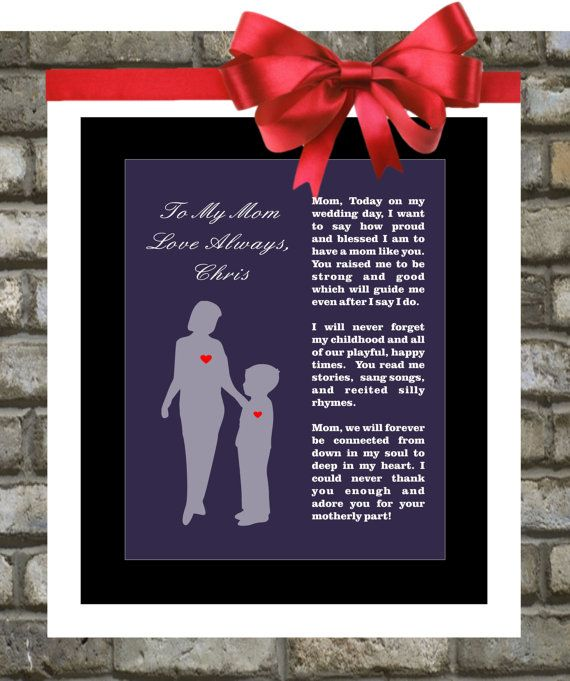 Mother Of The Groom Gift From Son Wedding Gifts Thank You