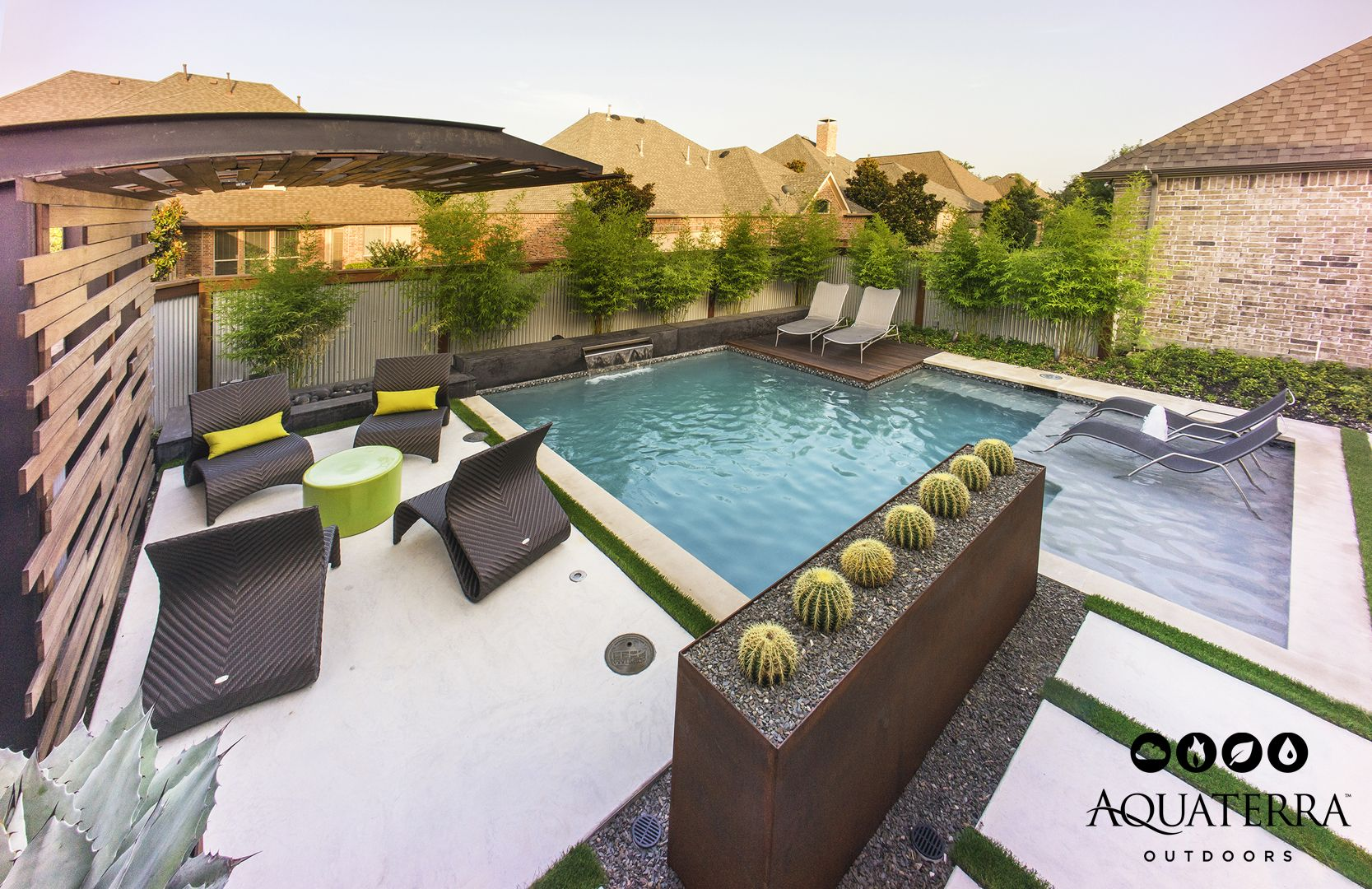 our client wanted us to transform their typical suburban backyard