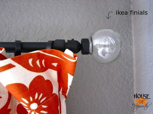 A Very Detailed Take On DIY Curtain Rods I Did This With 2 10 Ft